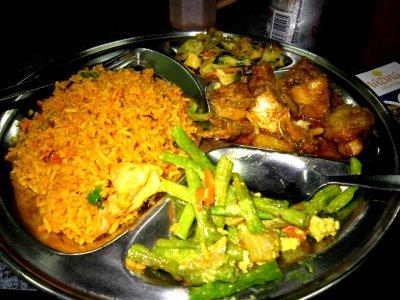My dinner Nasi biryani yum yum! 65Rm (just over £1)
