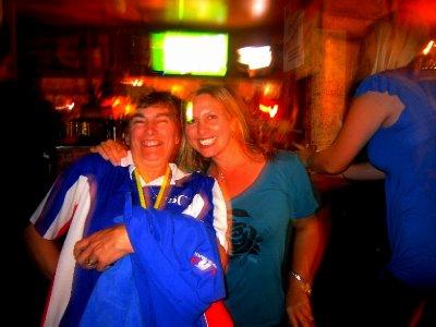 Celebrating in the skimpies bar