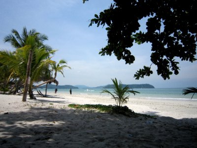 Cenang Beach near my bungalow