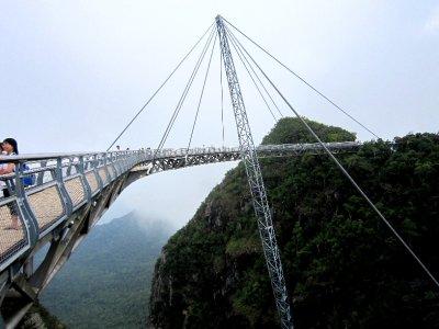suspension bridge and cloud