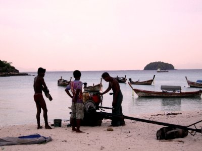 Locals on sunrise beach