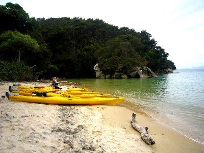 Abel Tasman, our kayaks