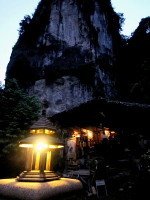 Dinner and drinks under the rock