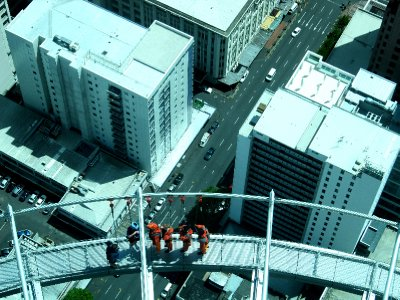 Bungy jumping off the sky tower