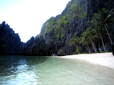 Beach near hidden lagoon