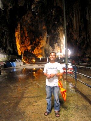 Fathi in the batu caves