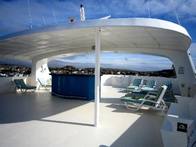 Sun deck of our boat
