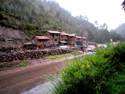 village near llama sanctuary