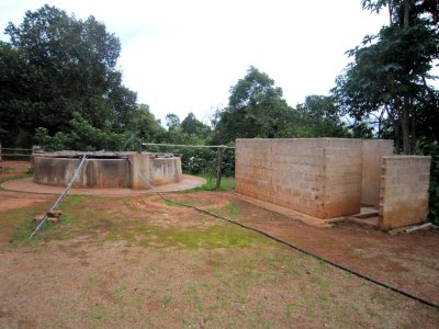 The shower facilites with well