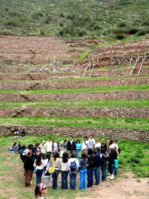 Moray Incan agricultural 'laboratory' feeling the energy!