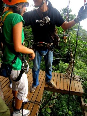 Zipping through the Thai jungle!