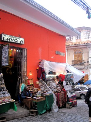 Witches market in La Paz