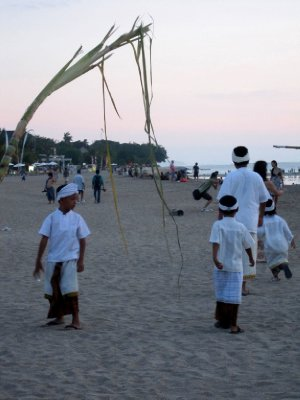 Kuta beach ceremony