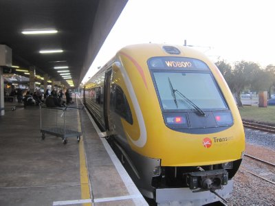 The Prospector train from Perth to Kalgoorlie