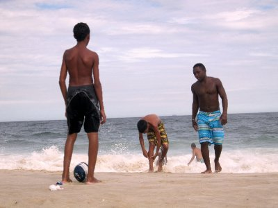 Football on Copacabana beach