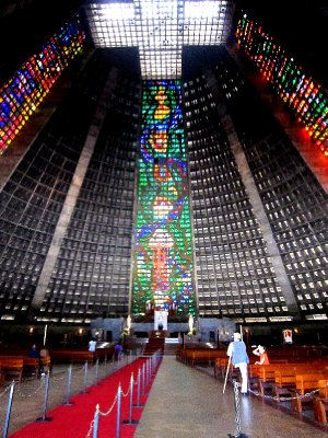 Very modern cathedral, Rio