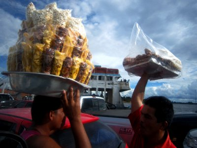 Snacks on the Amazon car ferry