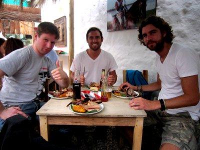 Pre-festival lunch somewhere in Bogota