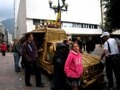 Interesting cafe outside gold museum, Bogota