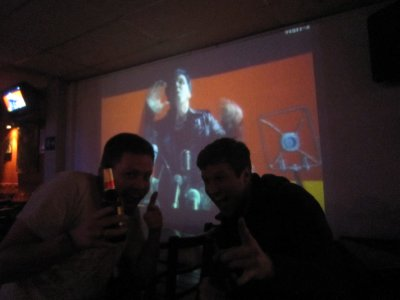 In the rock bar, my final night in Bogota