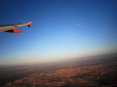 Flying over Morocco, continent number 7