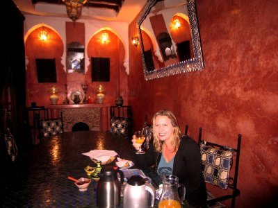Tired, Jetlagged but HAPPY to have made it..From my riad in Marrakesh