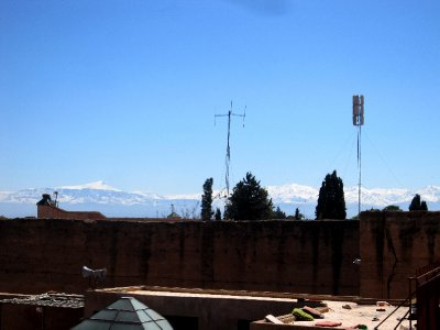 Snow capped Atlas mountains surrounding Marrakesh