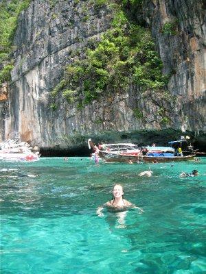 Taking a dip, Koh Phi Phi Leh