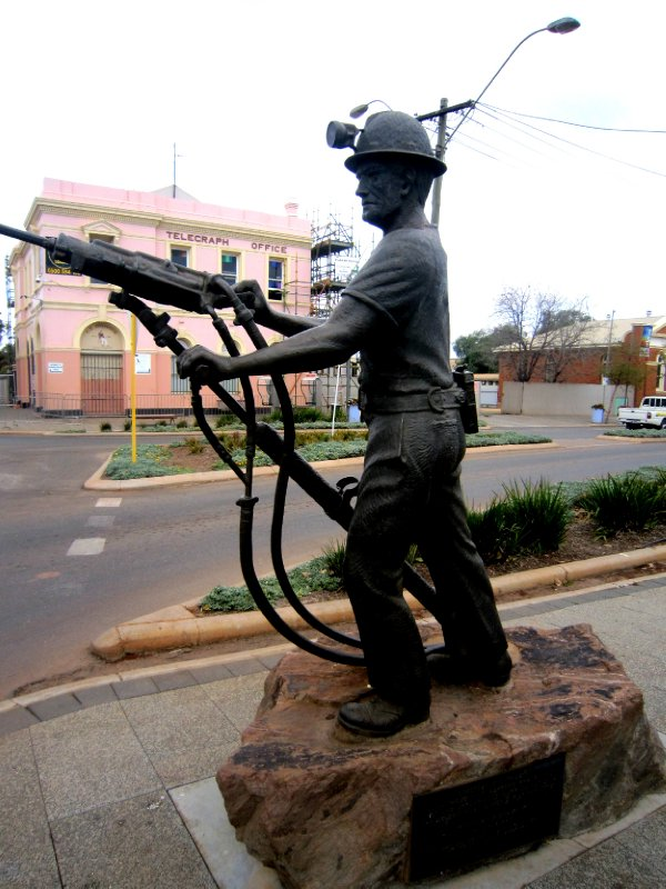 Statue of an airlegger, what my cousin does down the nickel mines