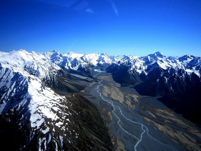 Braided glacial river