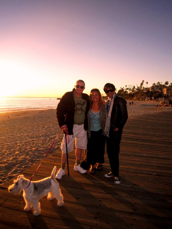 With Jonathan and Edward, laguna beach