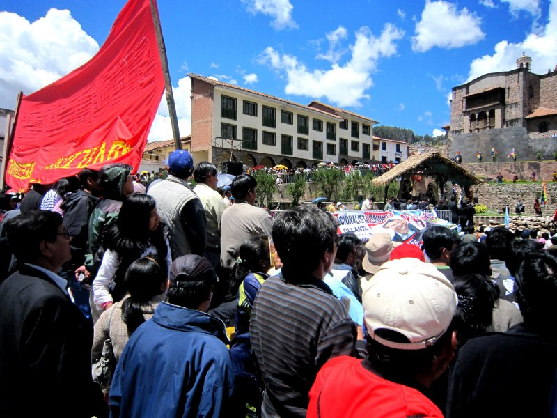 Some kind of demonstration I didn't understand in Cusco