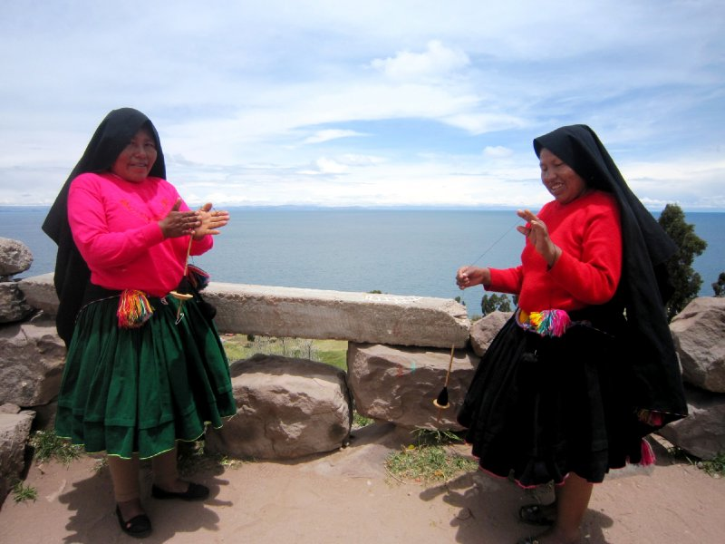 Typical dress for the ladies on Isla Taquile