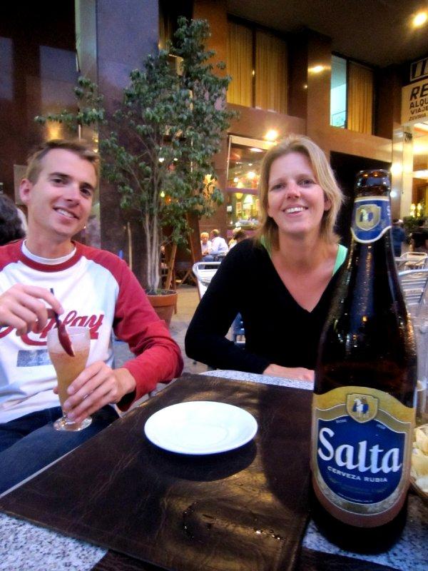 with Jurgen and Sandra in plaza se julio, Salta