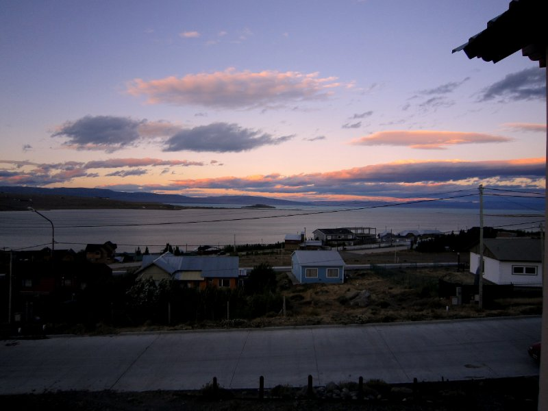 lake argentina from my room in el calafate