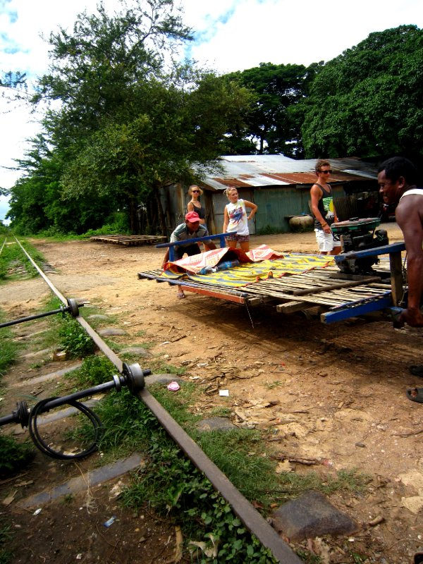 bamboo train, losing out on the stare-off and having to remove the train from the track!