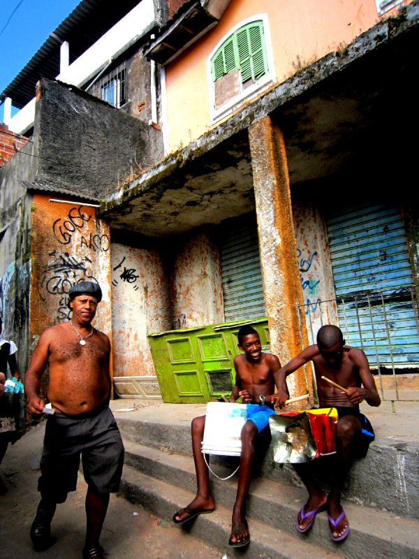 Serenaded in Rocinha favela, Rio