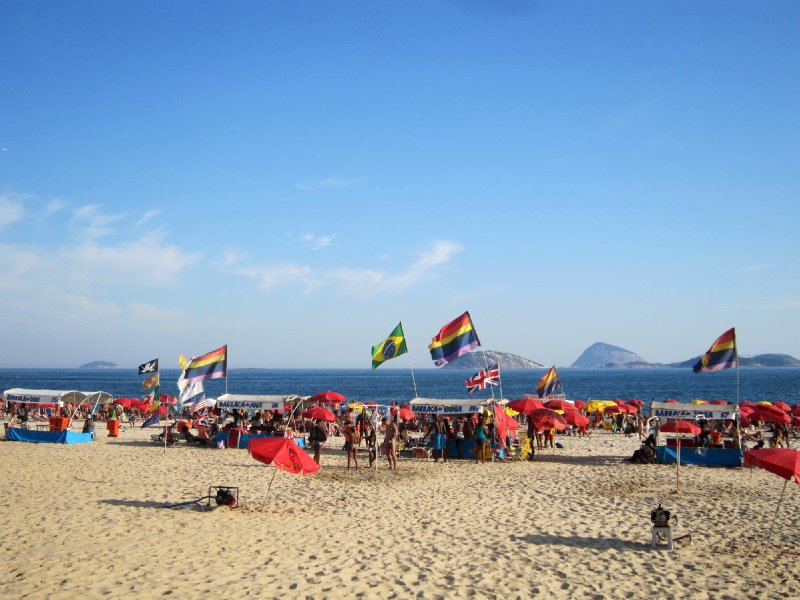 Ipanema beach, the rainbow section