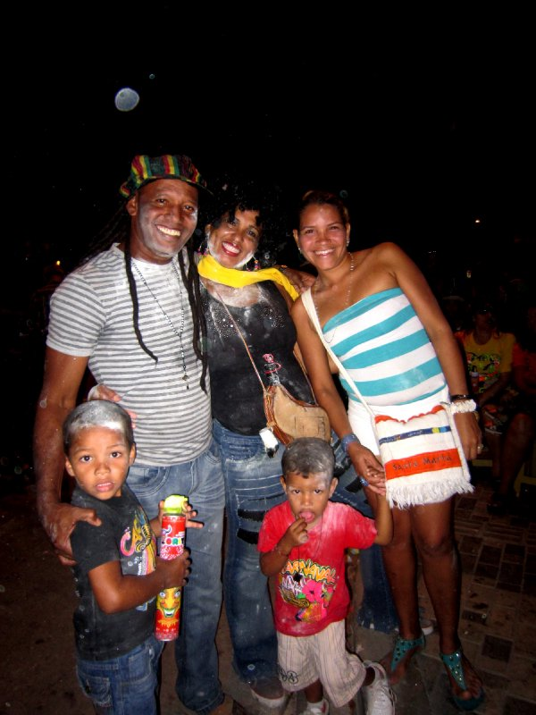 Carnival craziness, Santa Marta. This family kind of adopted me!