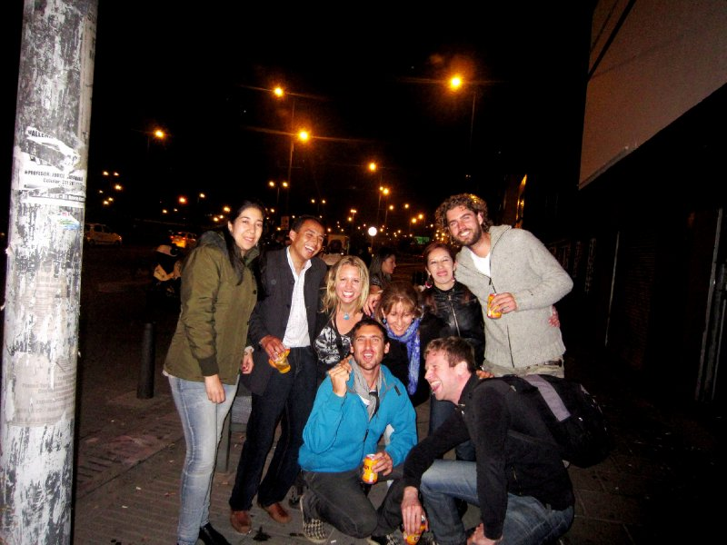 Outside salsa club in Bogota at 4am with one or two randoms