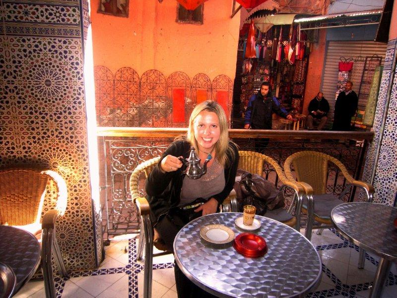 Mint tea in the souks of Marrakesh
