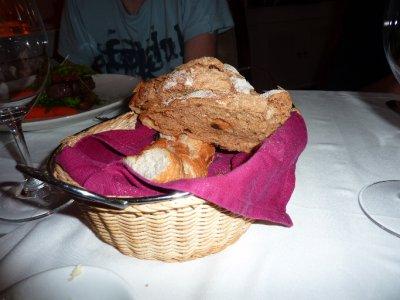 Warm fresh bread