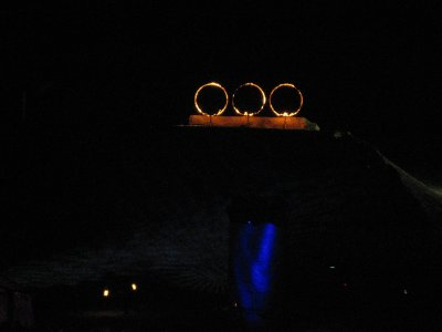 We finally found the rings of fire that skiers and snowboards jump through