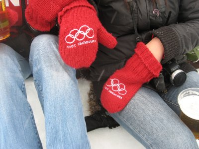 The coveted Olympic mittens -- very popular and extremely difficult to find
