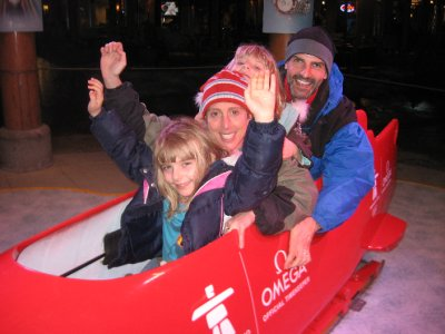 Winning gold in the family bobsled