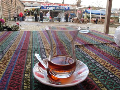 Turkish tea on a cold day