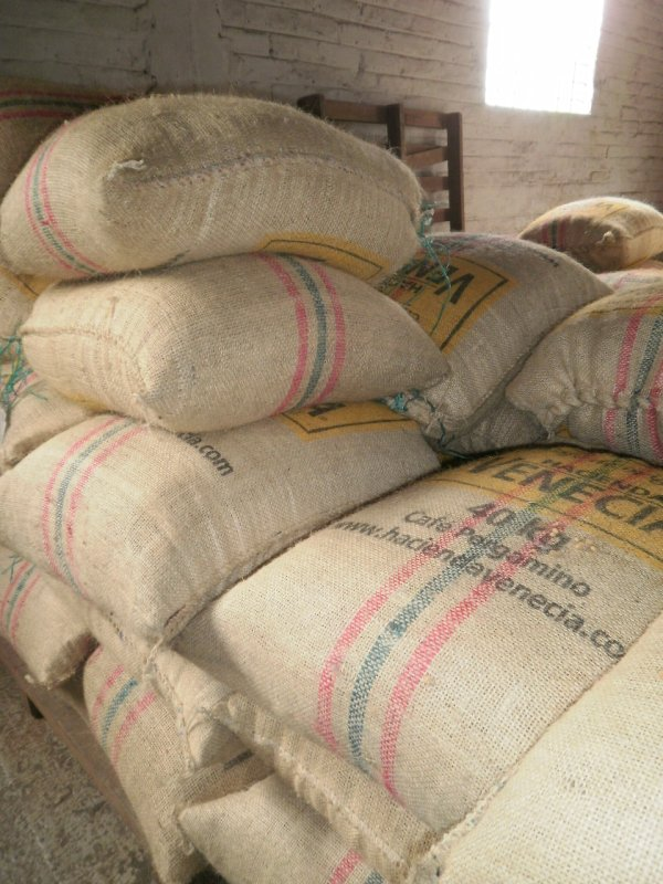 Bags of coffee, ready for shipping