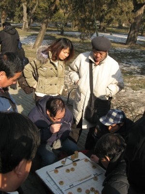 Chinese playing Xiangqi. I like this game