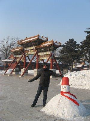櫺星門 and snowman