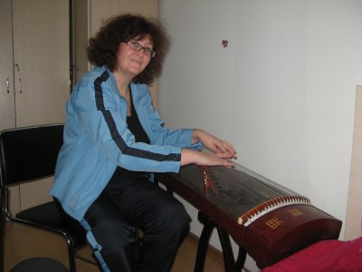 Mom playing guzheng 1